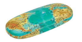 ETUI NA OKULARY - world map